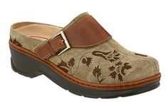 930493595f74 Klogs Austin Taupe Suede Tapestry Nursing Shoes