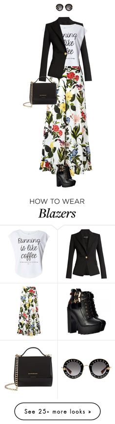 """""""eva 0676"""" by evava-c on Polyvore featuring Balmain, Dorothy Perkins, VIVETTA, Gucci and Givenchy"""