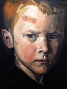 """Irish,"" original portrait painting by artist  Chris Martin available at Saatchi Art #SaatchiArt"
