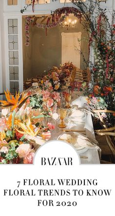 Floral Wedding Trends 2020 #weddingideas #floralweddings #weddingflowers