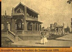 São Paulo - Avenida Paulista (Trianon - Belvedere) - 1916 - Ed. Old Photos, Vintage Photos, As Time Goes By, Old Postcards, Old City, Concorde, World History, Ancient History, Brazil