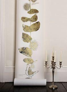 Papier-peint doré Columbia Gold par Custhom- The  collection. 150€ le panneau de 3,30m ou 390€ les 10m