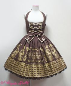 {Angelic Pretty} Royal Creamy Chocolate JSK in brown