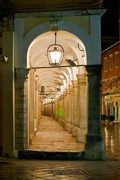 photo by McRae David (egad I have actually walked this corridor in Corfu! Corfu Greece, Mykonos Greece, Athens Greece, Santorini, Corfu Town, Corfu Island, Greek Isles, Greece Islands, Greece Travel