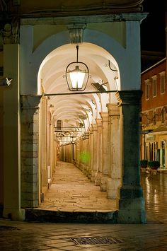 Corfu, portico in Old Town | by McRae David