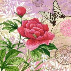 butterfly and roses- 22f- Elena Vladykina