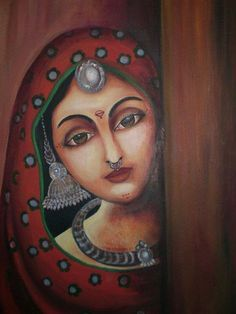 52 trendy ideas drawing woman dress art Source by Ancient Indian Paintings, Indian Art Paintings, Oil Pastel Paintings, Madhubani Art, Madhubani Painting, Acrylic Painting Flowers, Acrylic Painting Canvas, Rajasthani Painting, Indian Folk Art