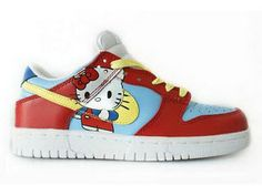 new style 4df0d 7550f Anime Nike Hello Kitty SB Dunks Shoes For Girls Low Pageant Casual Wear,  Girls Sneakers