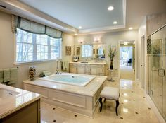 A Freestanding Tub Is An Inviting Focal Point In This Elegant Master Bath The Hampton Model From Toll Brothers Newly Built Homes At Shenstone Reserve