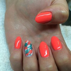 Summer nails for my baby sis! @Stephanie Springsteen #gelnails #nailsbydayna #marblenails #Padgram