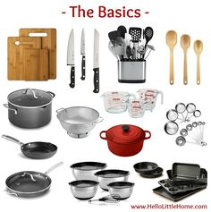 Kitchen Essentials List for Home Cooks . the basics! From basics to fun gadgets, this kitchen essentials list has everything you need to start creating delicious meals! Perfect for new graduates, college students, or anyone setting up their first apartm Interior Simple, Interior Design Minimalist, Interior Modern, Basic Kitchen, Minimalist Kitchen, Minimalist Decor, Minimalist Apartment, Minimalist Living, Minimalist Bedroom
