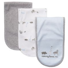 3-Pack Burp Cloths | Baby Boy New Arrivals