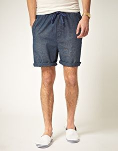 'Cheap Monday' cotton shorts. Comfortable, relaxed, but still aware! Pair with virtually anything - preferance: white v-neck t-shirt/white tank and matching plimsolls.
