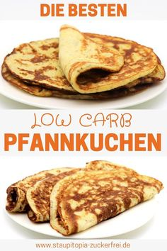 Low Carb Pfannkuchen - gesund und lecker - Staupitopia Zuckerfrei These are the best low carb flour- Low Carb Desserts, Low Carb Recipes, Dessert Recipes, Lunch Recipes, Pancake Healthy, Law Carb, Low Carb Pancakes, Low Carb Flour, Whole30