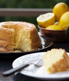 Bolo de limão siciliano sem gluten e sem lactose