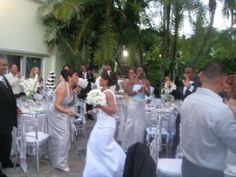 This is how you make an entrance!! With everyone on their feet.  Infinity Weddings & Events,LLC. 786-427-5360