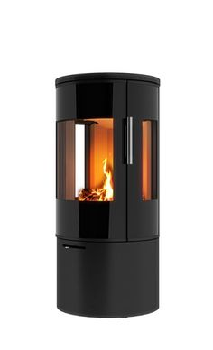 a round fire place model Rais Viva can be installed in the middle of the room