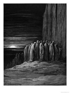 """Virgil and Dante, Illustration from """"The Divine Comedy"""" by Dante Alighieri Paris, Published 1885 Giclee"""