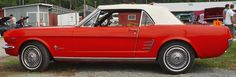 1966 or a 65 Ford Mustang Convertible - Red