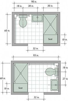 Using available space to build a basement bathroom will cut down on expenses, Small master bathroom ideas, Basement bathroom and Small bathroom ideas. bathroom ideas layout Trendy Basement Bathroom Ideas for Small Space Small Bathroom Floor Plans, Small Bathroom Layout, Bathroom Design Layout, Simple Bathroom, Modern Bathroom, Layout Design, Plan Design, Small Bathrooms, Narrow Bathroom