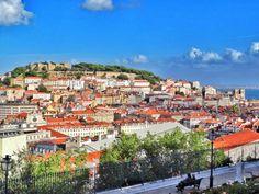 Lisbon Jardim de Sao Pedro de Alcantara panorama