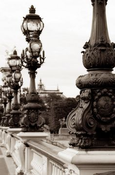 Pont Alexandre, Paris. the lampposts of a city tell so much about its history and style.