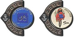 Cycling - Pictogram Mascots Spinning pin 2000 Olympics, Pictogram, Olympic Games, Spinning, Sydney, Decorative Plates, Logos, Cycling, Hand Spinning