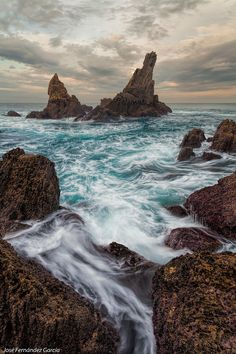 Horns of the Sea, Coastline of Asturias, Spain by Jose Fernandez