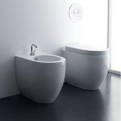 Kerasan - Flo Back to wall WC and Bidet 48 cm