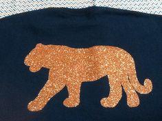 Auburn War Eagle Glitter Vinyl Tiger Shirt- Long Sleeve Silhouette Machine, Silhouette Cameo, Tiger Shirt, Glitter Vinyl, T Shirt Diy, Heat Transfer Vinyl, Auburn, Shirt Ideas, Kids Shirts