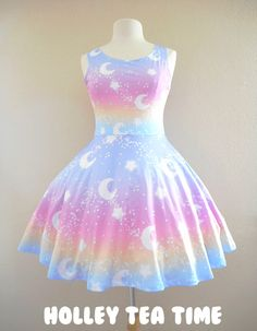 ✨ Magical Fairy Time ✨ Skater Dress Rainbow Sunset MADE TO ORDER ✨ sold by Holley Tea Time. Shop more products from Holley Tea Time on Storenvy, the home of independent small businesses all over the world. Jumper Dress, Dress Skirt, Dress Up, Pastel Goth Fashion, Kawaii Fashion, Ropa Color Pastel, Cool Outfits, Fashion Outfits, Kawaii Clothes