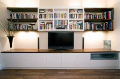 Alcove Unit with Chimney Shelf Oak Tv Cabinet, Tv Cabinet Design, Tv Cabinets, Room Interior, Home Interior Design, Design Interiors, Interior Ideas, Living Room Tv, Living Spaces