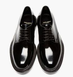 Black Patent Leather Derbys by Saint Laurent Me Too Shoes, Men's Shoes, Shoe Boots, Shoes Sneakers, Sneakers Sale, Shiny Shoes, Black Shoes, Formal Shoes, Casual Shoes