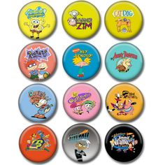 Nicktoons Buttons 1.25 by SheepButtons on Etsy