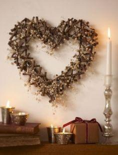 New Gisela Graham Large Twig Heart Wreath Wedding Gift Home Decoration Heart Christmas Hearts, Rustic Christmas, Christmas Wreaths, Christmas Decorations, Xmas, Twig Wreath, Heart Wreath, Door Wreaths, White Wreath