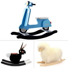A rocking horse is a must-have addition to any little kid's playroom, and while we still love that classic Radio Flyer, these modern alternatives are sure to Radio Flyer, Old School, Little Ones, Playroom, Kids Room, Old Things, Alternative, Woodworking, Classic
