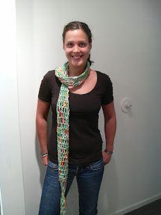 Crochet Scarf of Colinette 'Giotto'