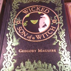 Wicked- I want to read the book! Of course, I could put this on a kindle, too... but... you know... smell of a book, all that jazz!