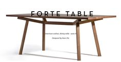 X2 - Designer solid wood dining table by Sean Dix | made.com