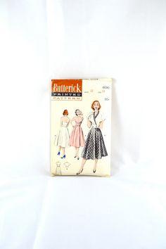1950s Vintage Butterick Pattern 6090 Misses by TabbysVintageShop, $50.00