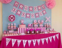 Pink Choo Choo Train Birthday Party