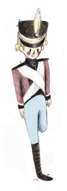 The Steadfast Tin Soldier. #illustration