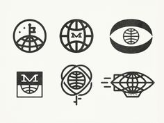 Like the globes…    Molleweide interrupted in the same style would be cool… ;)    M