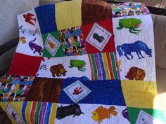 Brown Bear by Eric Carle Crib Quilt by astitchofmine on Etsy, $70.00
