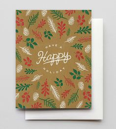 Forest Floor Happy Holiday Cards, 6-Pack by Hammerpress on Scoutmob
