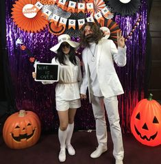 For Halloween my wife and I went as John Lennon and Yoko Ono to our local Halloween swing dance party. Here's how we put together the costumes. John Lennon Yoko Ono, John Lennon Beatles, The Beatles, 1960s Party Costume, Halloween 2018, Halloween Costumes, Beatles Party, Your Name Anime, Squad Goals