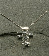 Cascading Cross Necklace