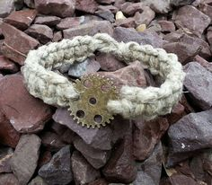 Check out this item in my Etsy shop https://www.etsy.com/listing/234246612/steampumk-bracelet-hemp-bracelet