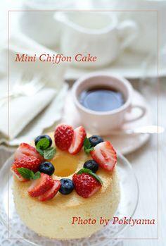 Mini chiffon cake from 1 egg