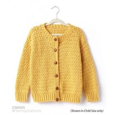 Adult Crochet Crew Neck Cardigan |Caron Simply Soft | Yarnspirations | Free Pattern | Easy Pattern | New Pattern | New Collection |